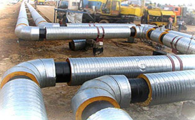 Монтаж временной байпасной линии с помощью гибких металлических трубопроводов