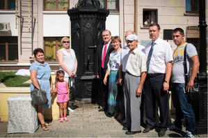 В Оренбурге появился памятник водопроводу