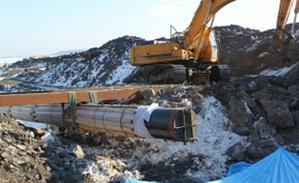 Как идет строительство водовода на остров Русский