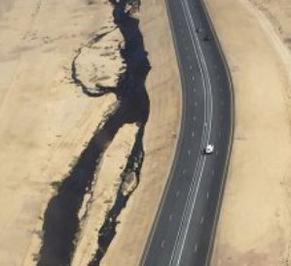 В США дорожники повредили нефтепровод
