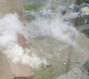 В Тюмени пять человек пострадали из-за прорыва трубы с кипятком