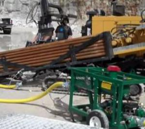 ГНБ в условиях скалистых пород (видео с объекта)